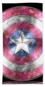 Captain America Shield Digital Painting Beach Towel