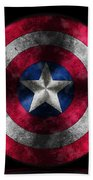 Captain America Shield Beach Towel