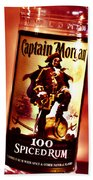 Captain Morgan Red Toned Beach Towel