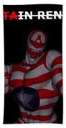 Captain Renegade Super Hero Combating Crime Beach Towel