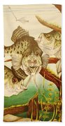 Captivating Crappies Beach Towel by Bruce Bley