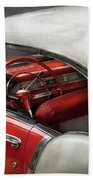 Car - Classic 50's  Beach Towel by Mike Savad
