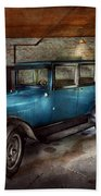 Car - Granpa's Garage  Beach Towel by Mike Savad