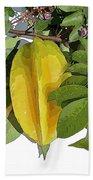 Carambolas Starfruit Three Up Beach Towel