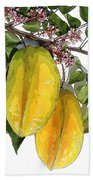 Carambolas Starfruit Two Up Beach Towel
