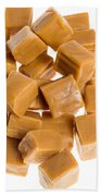 Caramel Cubes Beach Towel