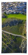 Carcabuey Castle From The Air Beach Towel