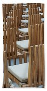 Cardboard Cathedral Chairs Beach Towel