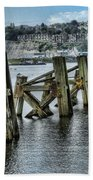 Cardiff Bay Old Jetty Supports Beach Towel
