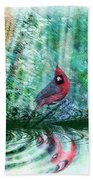 Cardinal - Featured In Comfortable Art-wildlife-and Nature Wildlife Groups Beach Towel