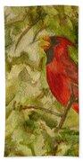 Cardinal Singing Beach Towel