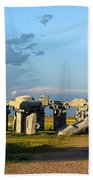 Carhenge Somewhere In Nebraska Beach Towel