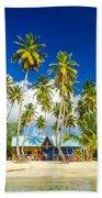 Caribbean Beach Shack Beach Towel
