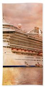 Caribbean Princess In A Different Light Beach Towel by Betsy Knapp