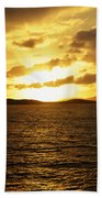 Caribbean Sunset Beach Towel