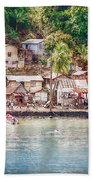 Caribbean Village Beach Towel