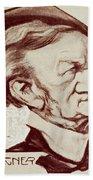 Caricature Of Richard Wagner Beach Towel