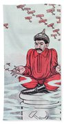 Caricature Of Stalin Beach Towel