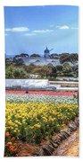 Carlsbad Flower Fields Beach Sheet
