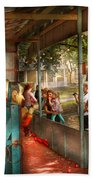 Carnival - Game - A Game Of Skill  Beach Towel by Mike Savad