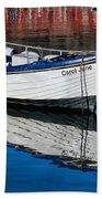Carol June At Lyme Regis Harbour Beach Towel