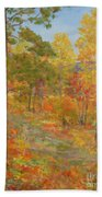 Carolina Autumn Gold Beach Towel
