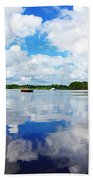 Carolina Blue- Washington Nc Beach Towel by Joan Meyland