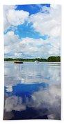 Carolina Blue- Washington Nc Beach Sheet by Joan Meyland