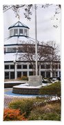 Carousel Building In Snow Beach Towel by Tom and Pat Cory