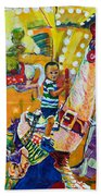 Carousel Dreams Beach Towel