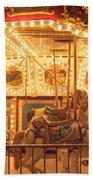 Carousel Night Lights Beach Towel