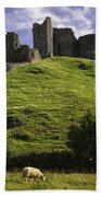 Carreg Cennan Castle Beach Towel