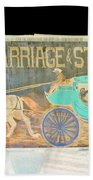Carriage And Stagecoach Color Invert Beach Towel