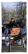 Carriage Driver - Central Park - Nyc Beach Towel