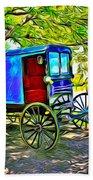 Amish Carriage Beach Towel
