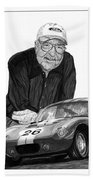 Carroll Shelby    Rest In Peace Beach Towel