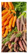 Carrots At The Market Beach Towel