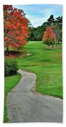 Cart Path Beach Towel by Frozen in Time Fine Art Photography