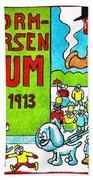 Cartoon 01 Beach Towel by Svetlana Sewell