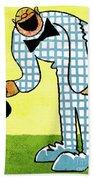 Cartoon 02 Beach Towel by Svetlana Sewell