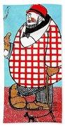 Cartoon 05 Beach Towel by Svetlana Sewell