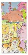 Cartoon Animals Beach Towel
