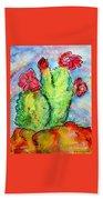 Cartoon Cactus Beach Sheet