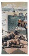 Cartoon Immigration, 1885 Beach Towel