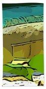 Cartoon Lizard Beach Towel