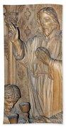 Carved In Wood Beach Towel