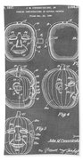Carved Pumpkin Patent Beach Towel