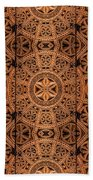 Carved Wooden Cabinet Symmetry Beach Towel