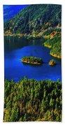Cascades Lake Beach Towel