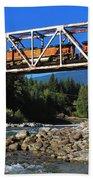 Cascades Rail Bridge Beach Towel